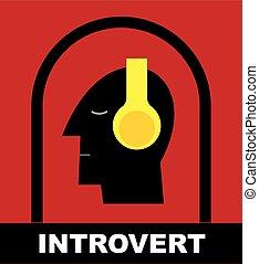me, tête, set., écouteurs, solitude., time., humain, introvert.