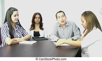meeting;, conférence vidéo, business