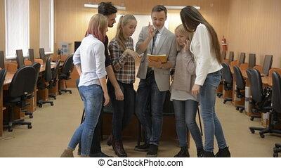 meeting., groupe, jeune, professionnels