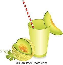 melon cantaloup, été, rafraîchissement