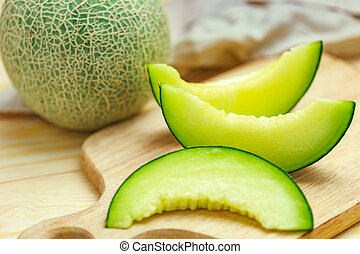 melon, vert