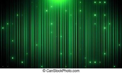 mené, vj, arrière-plan vert, animé, scintillement