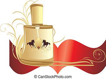 men., bannière, parfum