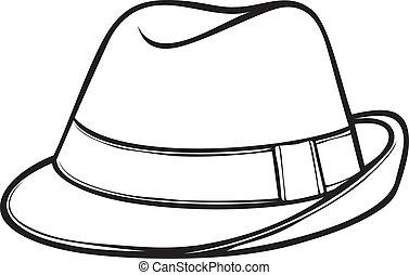 (men's, classique, chapeau, fedora, fedora)