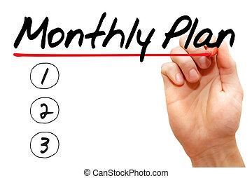 mensuel, plan