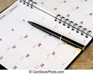 mensuel, planificateur