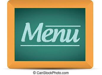 menu, écrit, message, tableau, illustration