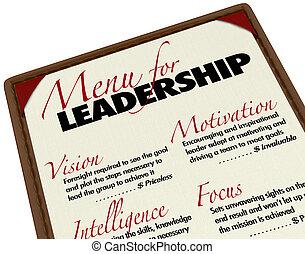 menu, désirable, directeur, direction, qualities, éditorial