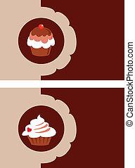 menu, illustration, boulangerie, vecteur, gabarit, conception