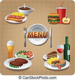 menu, repas, quotidiennement