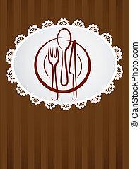 menu, restaurant, gabarit