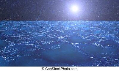 mer, étoiles