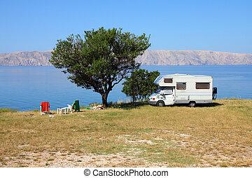 mer adriatique, camping