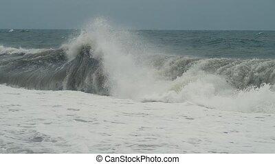 mer, orage, vagues
