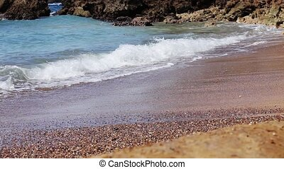 mer sable, vagues