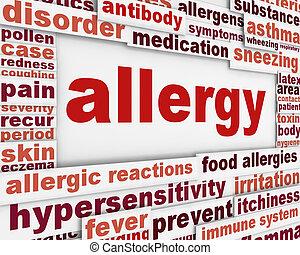 message, allergie, fond