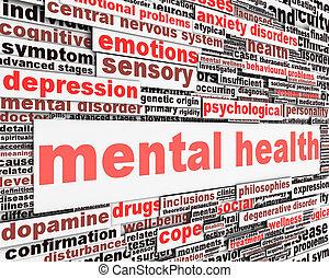 message, concept, santé, mental