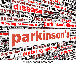 message, conception, maladie, parkinson's