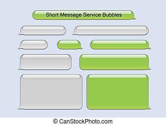 message, court, bulles, service