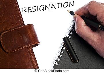 message, démission