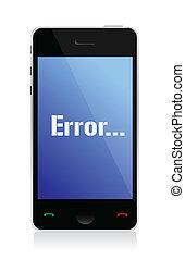 message téléphonique, erreur