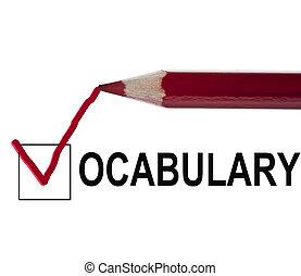 message, vocabulaire