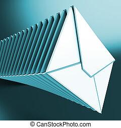 messages, entassé, informatique, inbox, enveloppes, spectacles