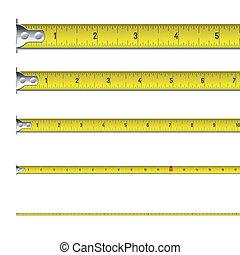 mesure, bande, pouces