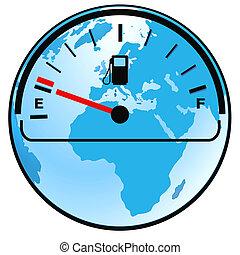 mesure gaz, mondiale