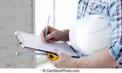 mesurer, constructeur, bande, site
