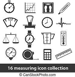 mesurer, icônes