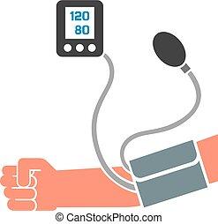 mesurer, pression, sanguine