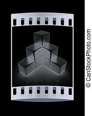 metall, diagram., pellicule, bloc, bande