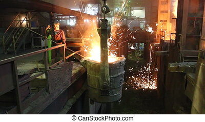 metallurgical, fonderie, atelier, haut fourneau, plante