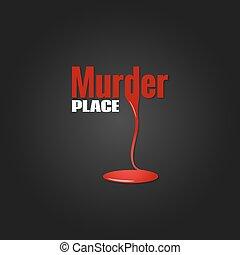 meurtre, conception, sanguine, fond