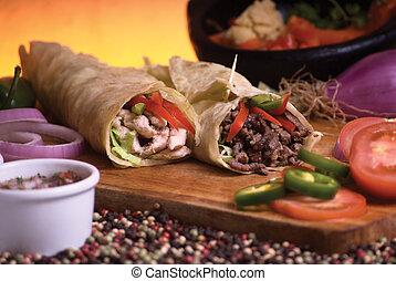 mexicain, burrito