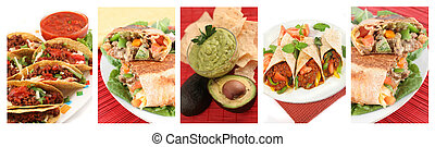 mexicain nourriture, collage