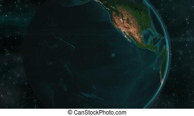 mexique, la terre, animation, zoom, 4k