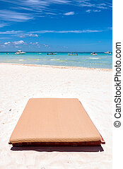 mexique, mujeres, exotique, sunbed, isla, plage