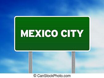mexique, signe, autoroute, ville