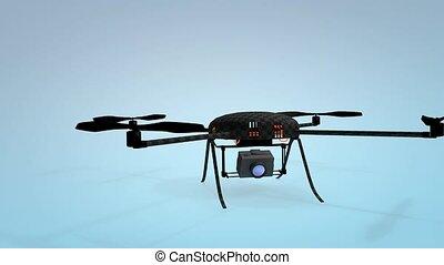 micro, drone., quadcopter.