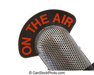 microphone, air