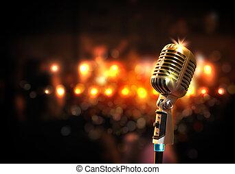 microphone, audio, style, retro