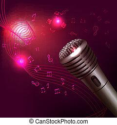 microphone, musique, fond