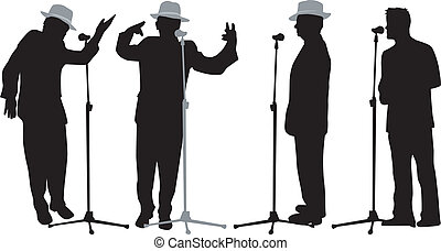 microphone, parler, homme