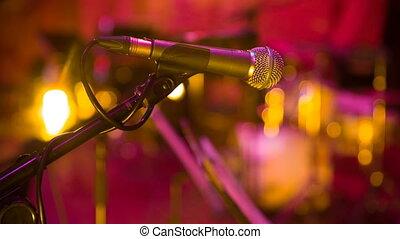 microphone, salle concert