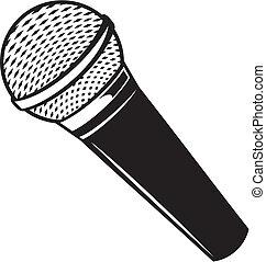 microphone, vecteur, classique