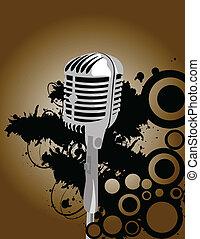 microphone, vecteur