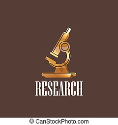 microscope, illustration, icône