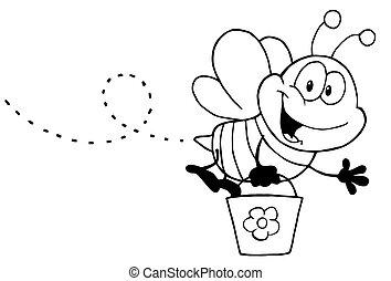 miel, blanc, voler, noir, abeille